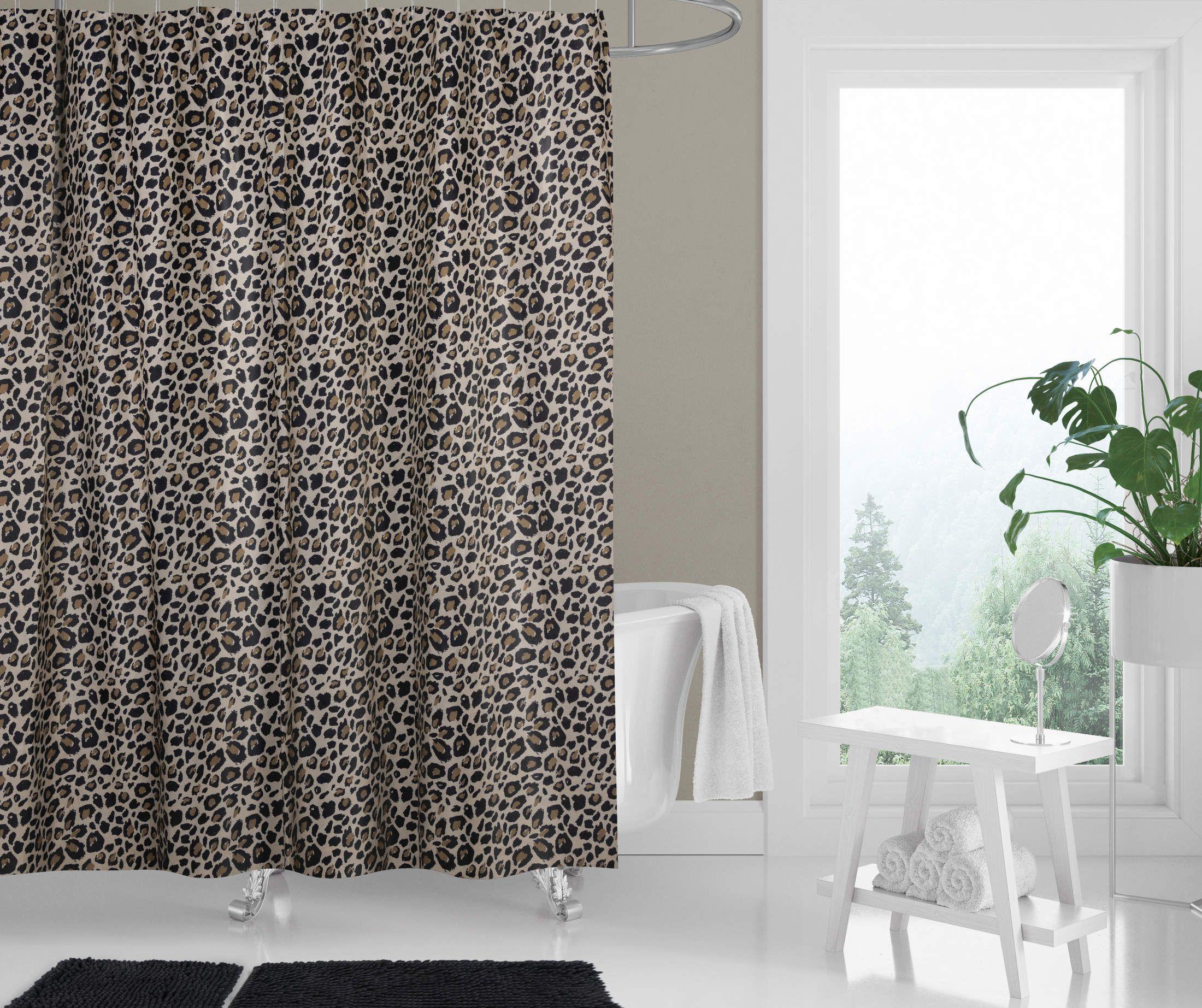 Cheetah Print Shower Curtain & Bath Rugs Set - Big Lots in 8