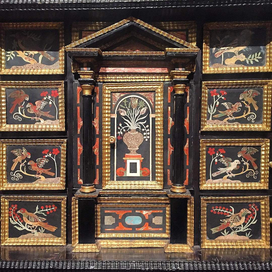 Detail of an Italian scagliola cabinet, 17th century @sothebys #collections #cabanamood #italianstyle