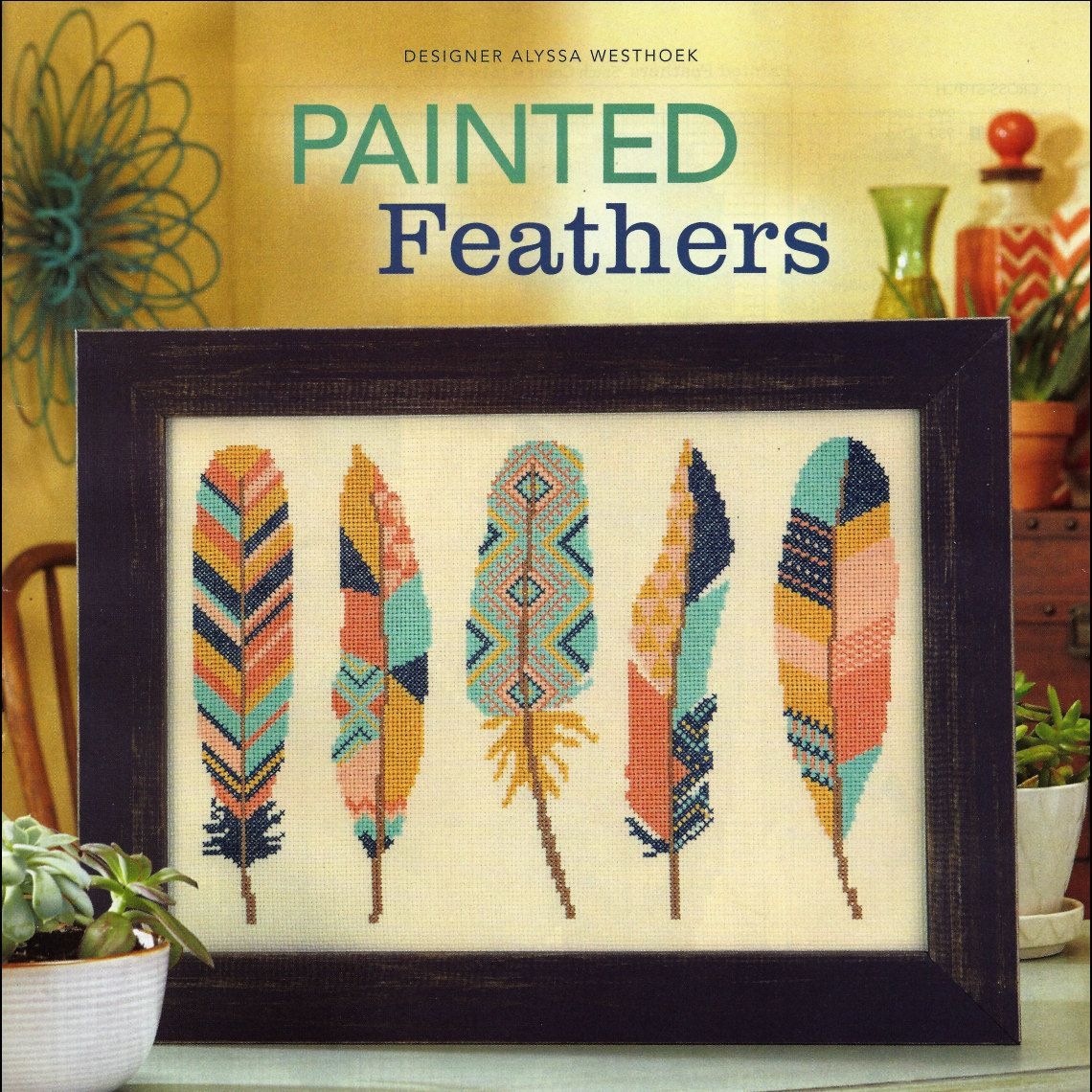 Watercolor Feather Cross Stitch Pattern Hope is the thing with ...