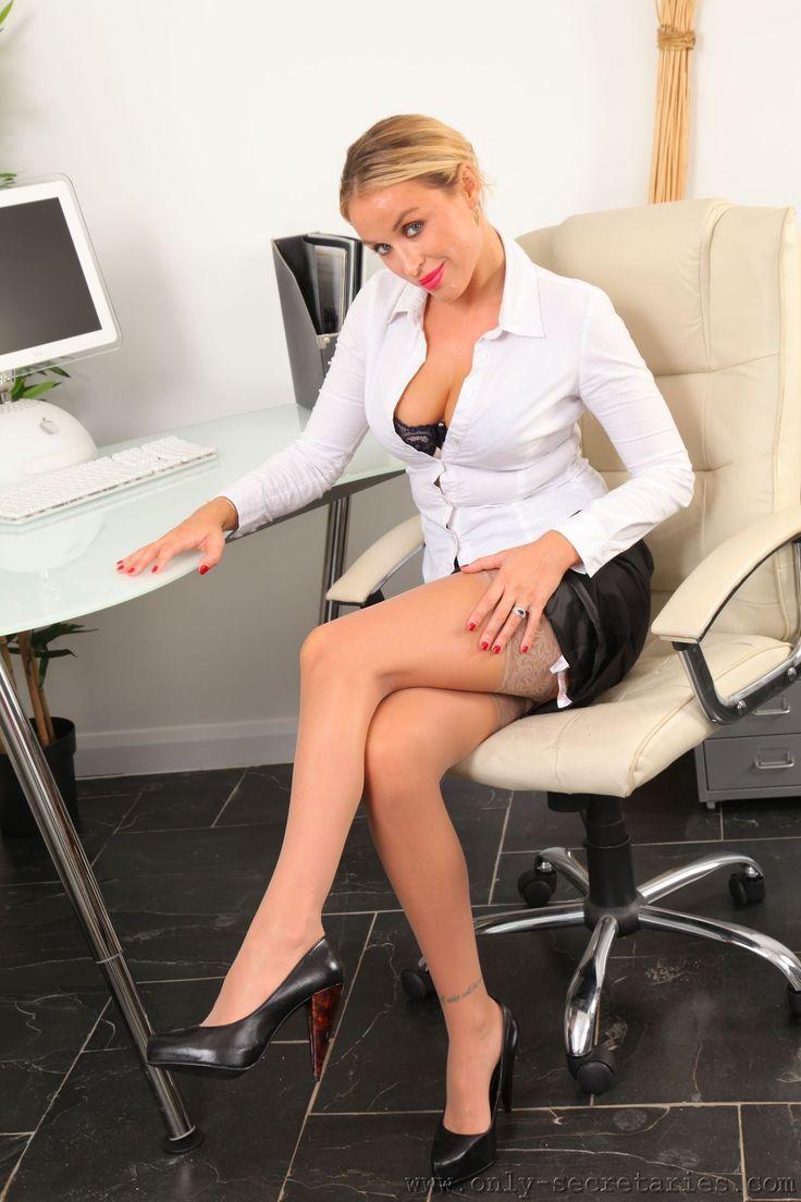 Chinnesses Büro Ladys in Strumpfhosen