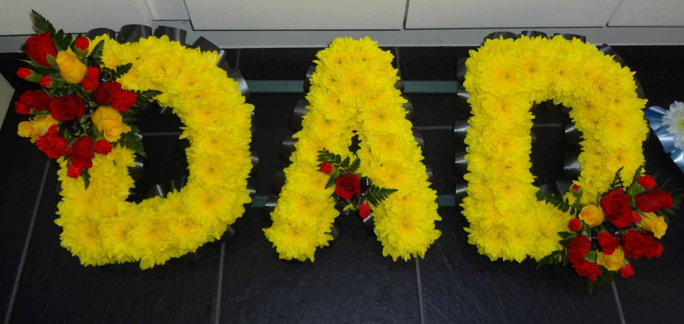Dad funeral flowers image collections flower wallpaper hd dad tribute in yellow red and black funeral flowers pinterest funeral flowers dad tribute in yellow izmirmasajfo