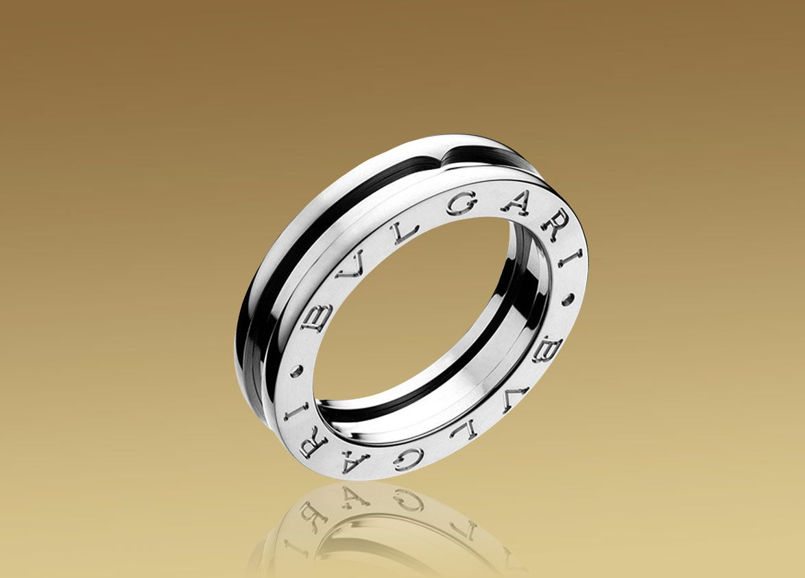 bvlgari bzero1 1band ring in 18kt white gold
