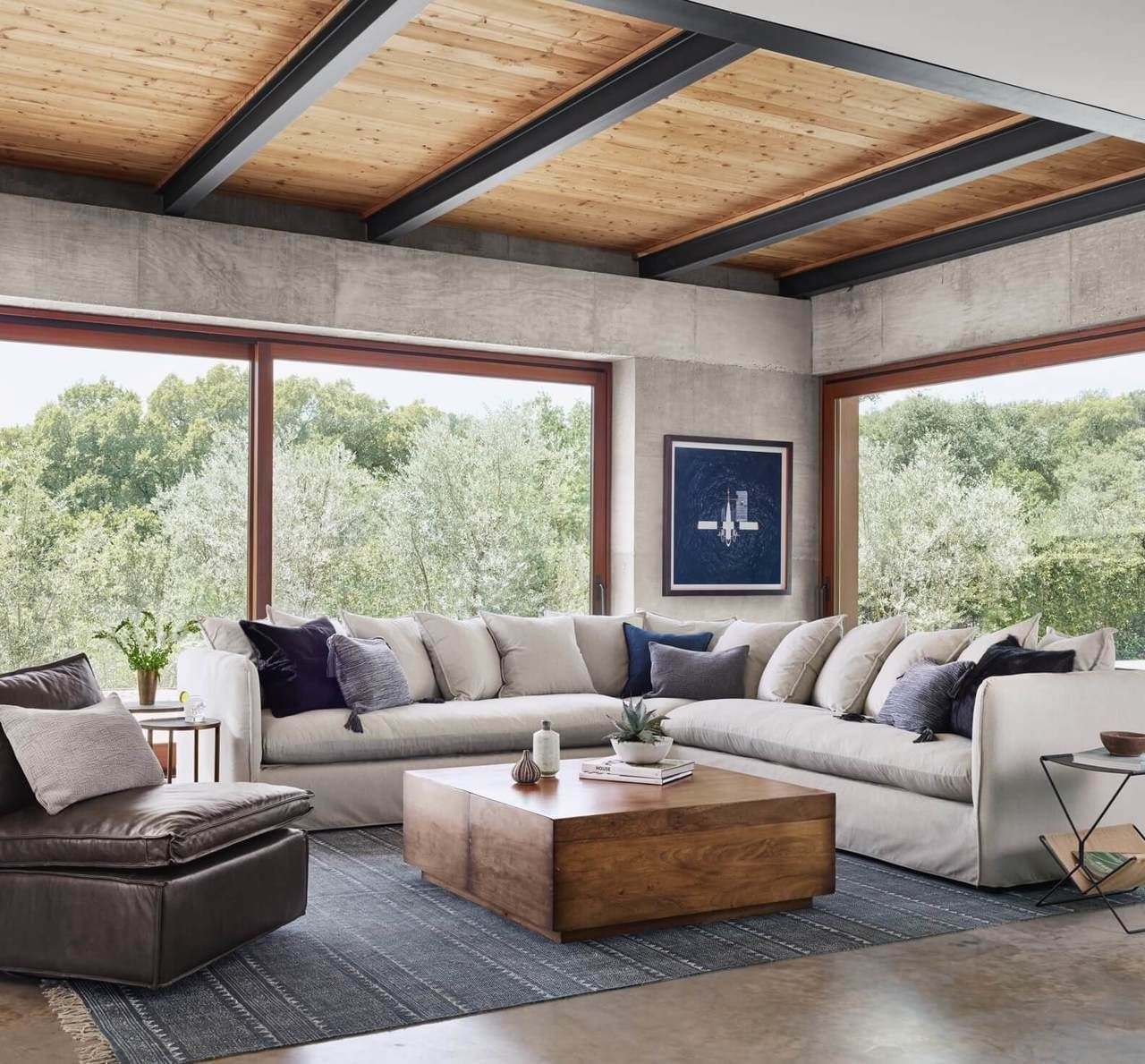 Duncan Reclaimed Wood Square Storage Coffee Table In 2019