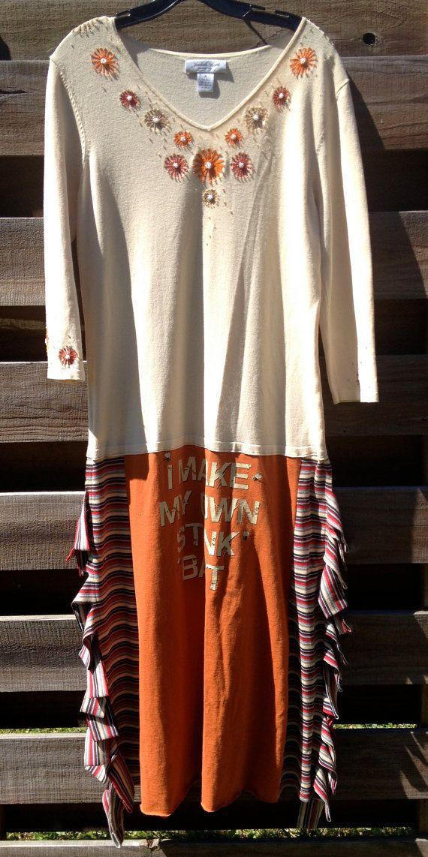 upcycled OOAK Market Tshirt Dress by adelightdesign on Etsy, $35.00