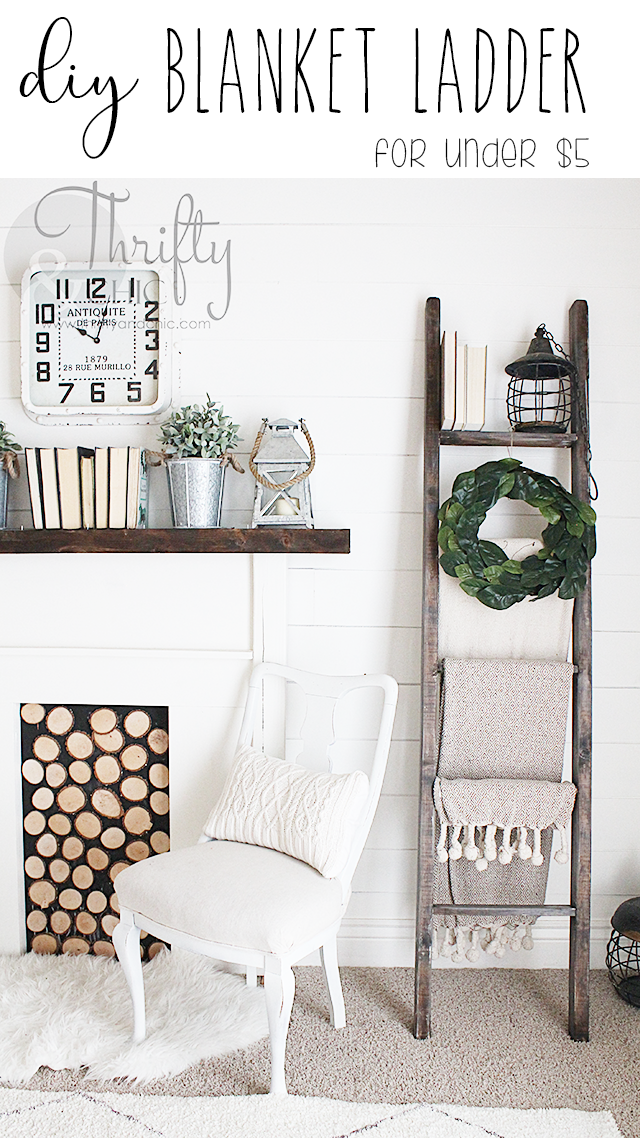 DIY Farmhouse Blanket Ladder For 5 Farmhouse blankets
