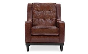 Freeman Armchair, Distressed Leather