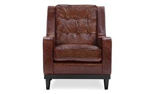 Freeman Armchair, Distressed Leather