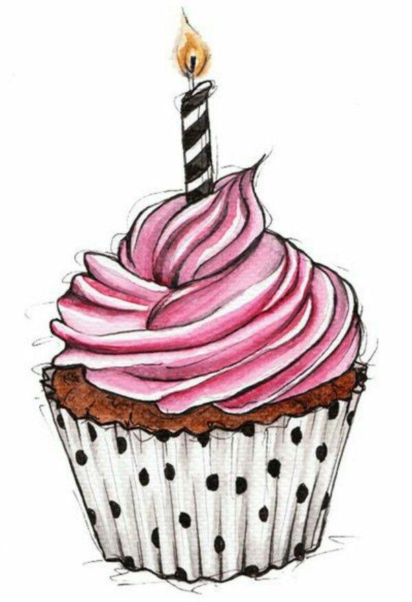 Cupcake Cupcake drawing Cupcake art Cupcake illustration