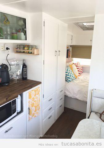Ideas decorar caravana autocaravana estilo vintage shabby chic 8 glamper campervan - Decoracion interior caravanas ...