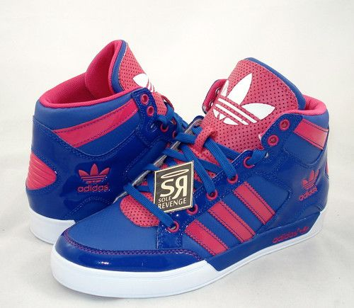 Shoes adidas high tops blue and red