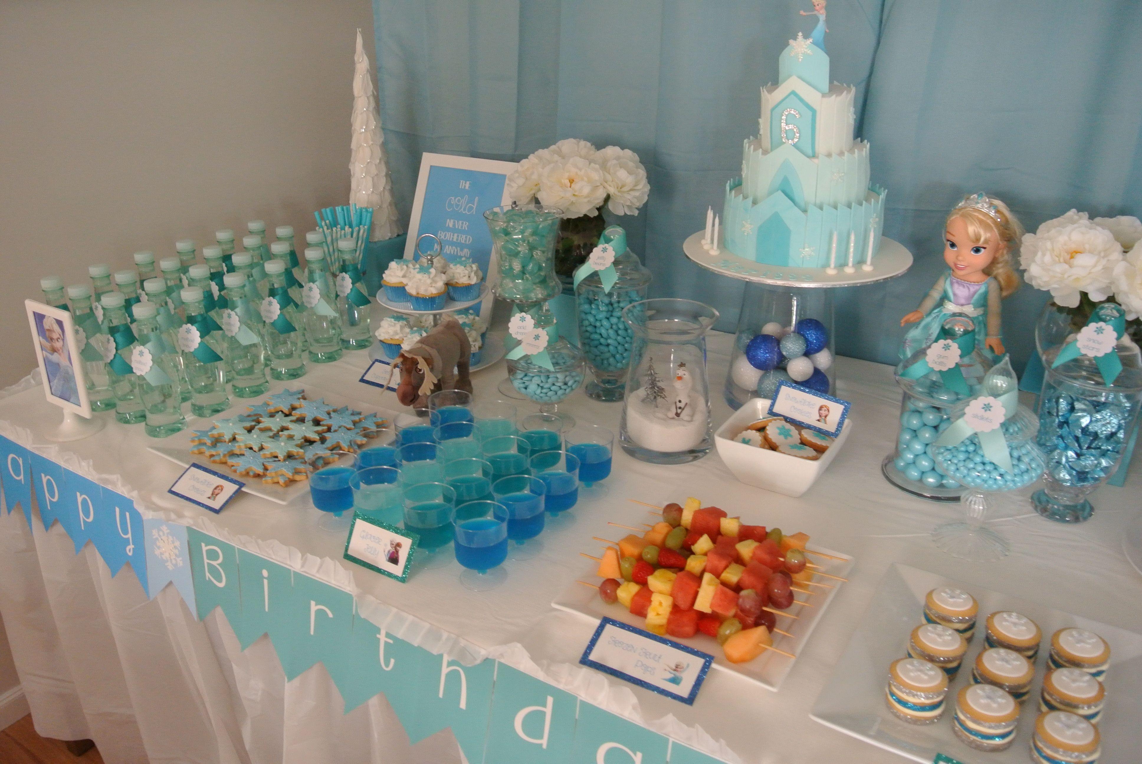 Frozen Party Dessert Table Frozen Birthday Party Dessert Table Frozen Birthday Party