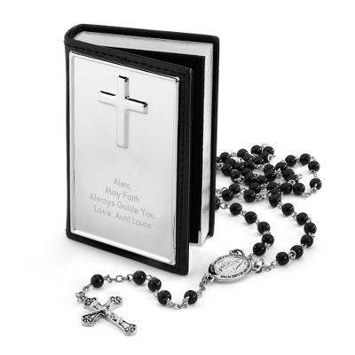 Personalized Boy's Rosary Set | Things Remembered