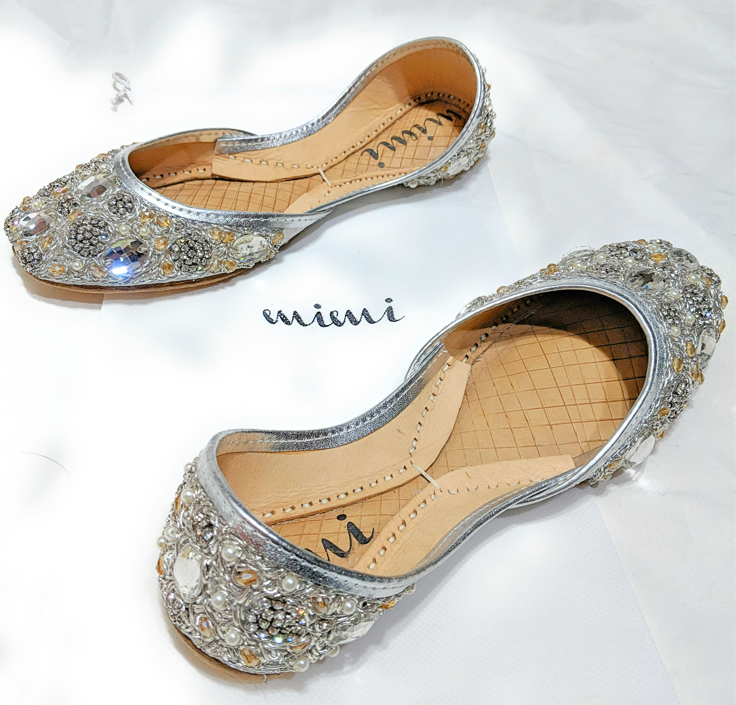 You Ll Shine In These Flats From Mimi Covered In Sparkling