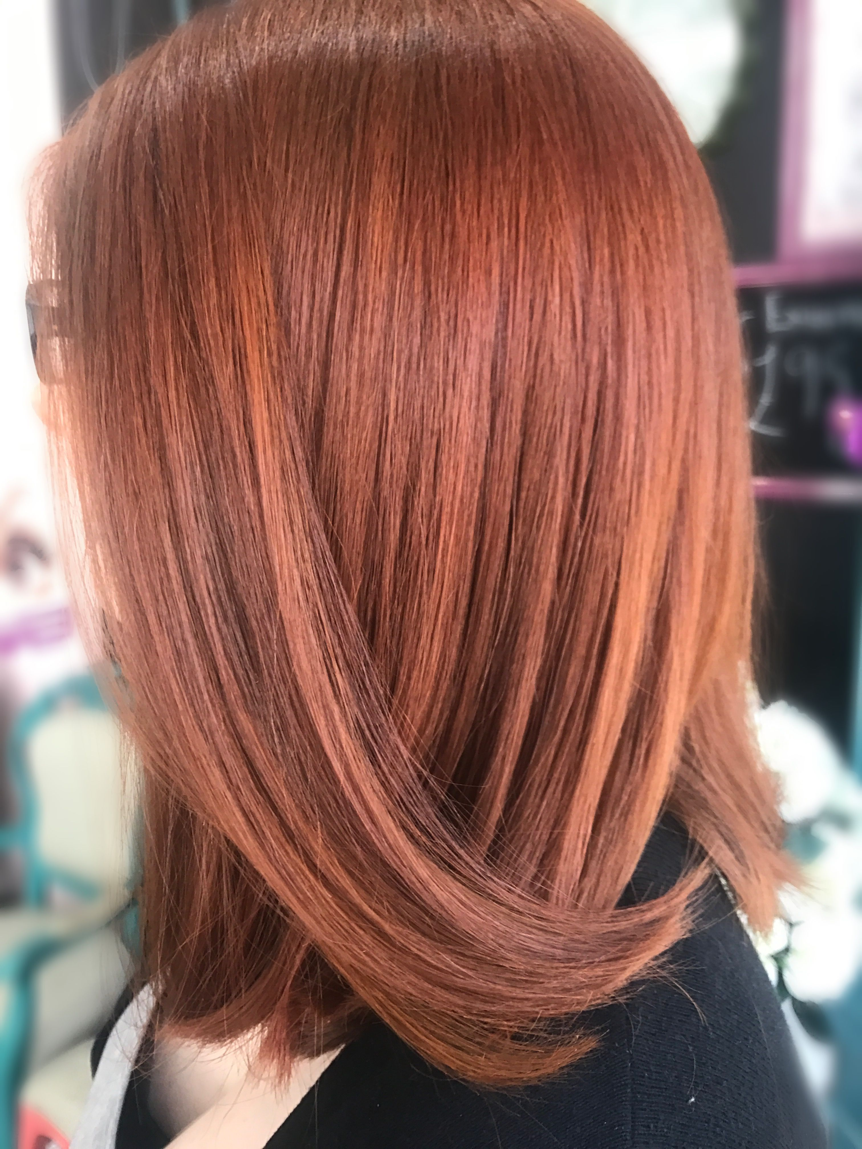 Copper hair using Schwarzkopf Igora Royal 7-77 | Hair in ...
