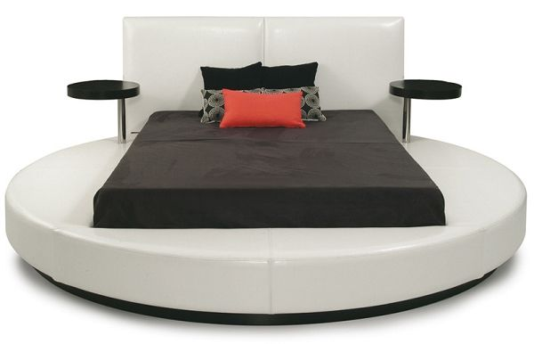 Bedroom Luxury Bedroom Decorating Ideas Round Platform Bed Bedroom