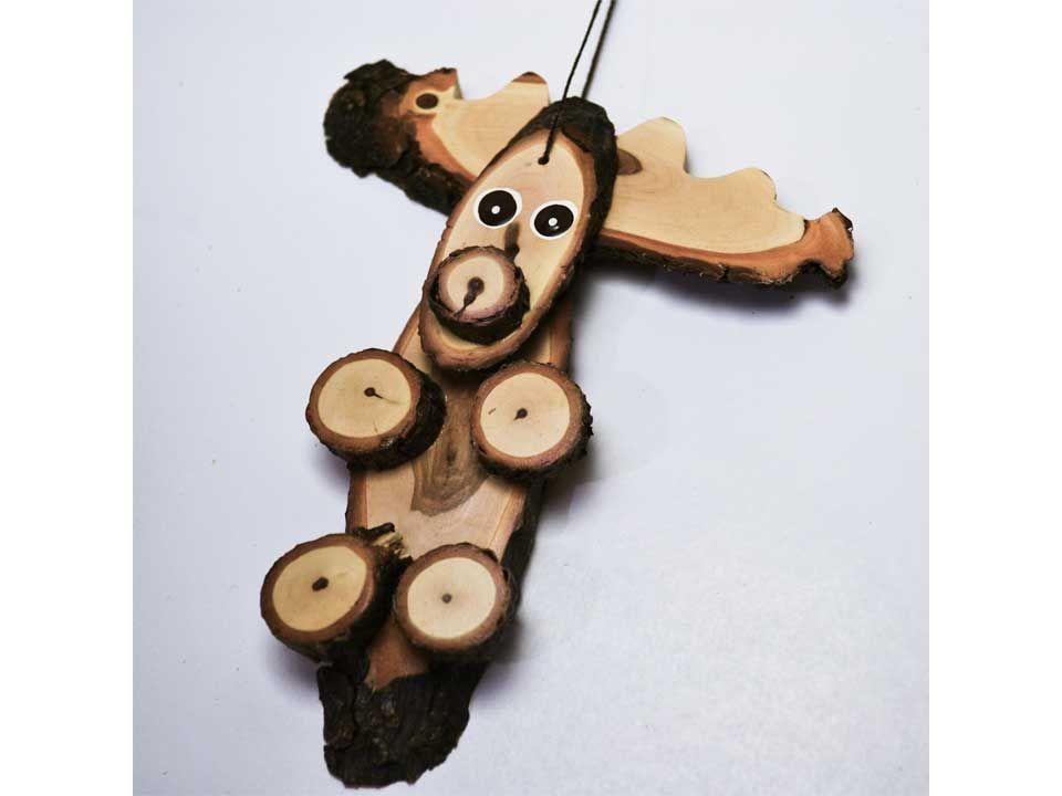 Wood Art Woodland Critters Moose Ornament | Wood art ...