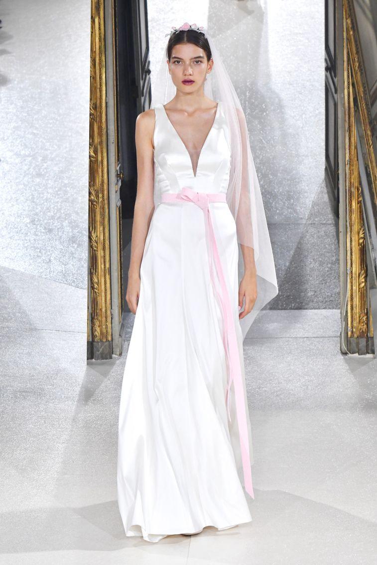 Kaviar Gauche Spring 2018 Wedding Dresses La Vie En Rose sleeveless v neckline a line wedding dress #weddingdress #weddinggown #floralapplique