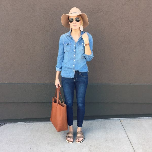 Everyday Style- cropped denim, espadrille wedges, everyday ...
