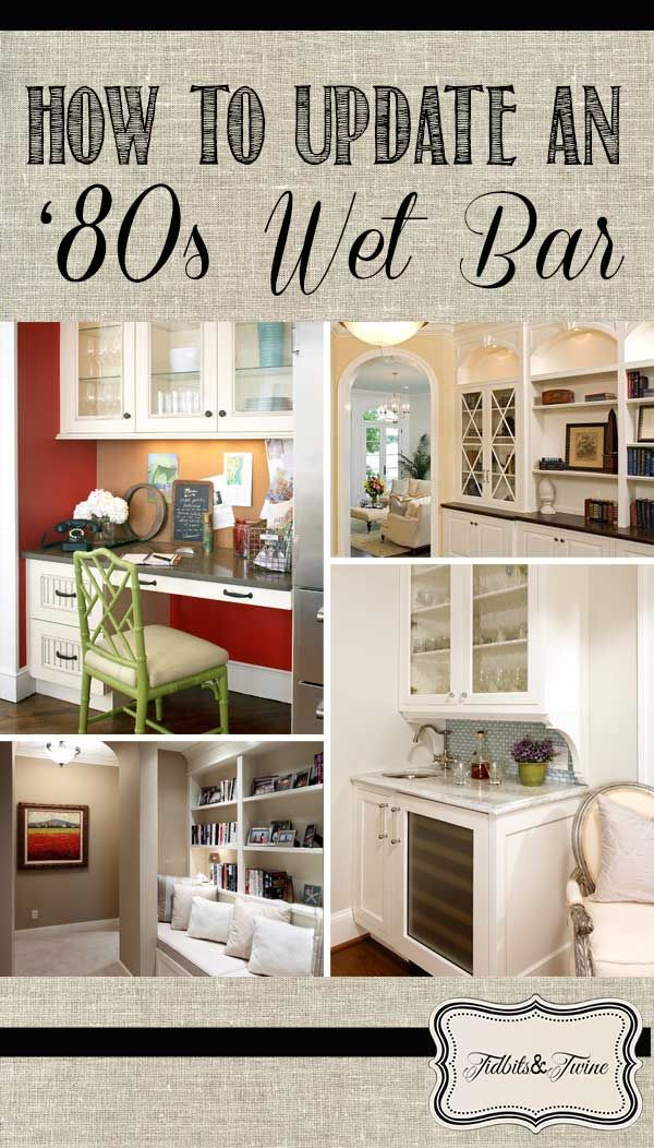 Ideas for Updating an 80s Wet Bar Wet bars Twine and Bar