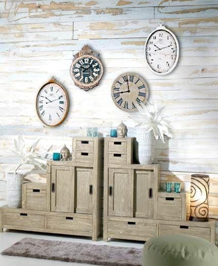 Paredes decoradas con relojes relojes pinterest for Paredes exteriores decoradas