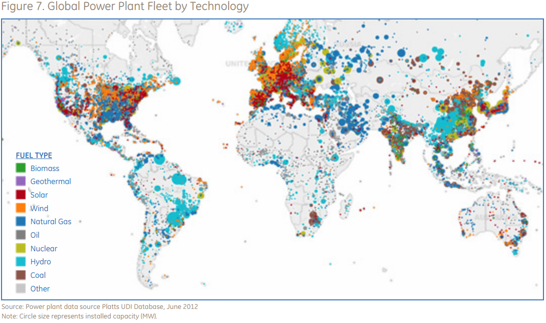 of the worlds power plants in one handy map