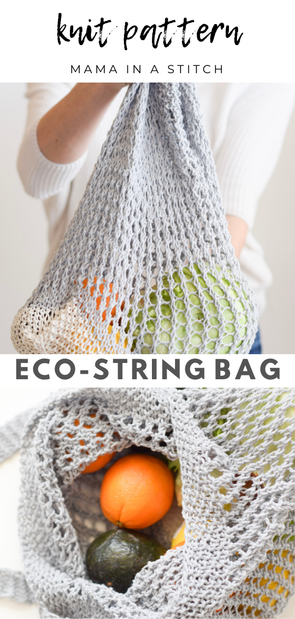 How To Knit A Market String Bag &Ndash; Mama In A Stitch - Knitting Bag