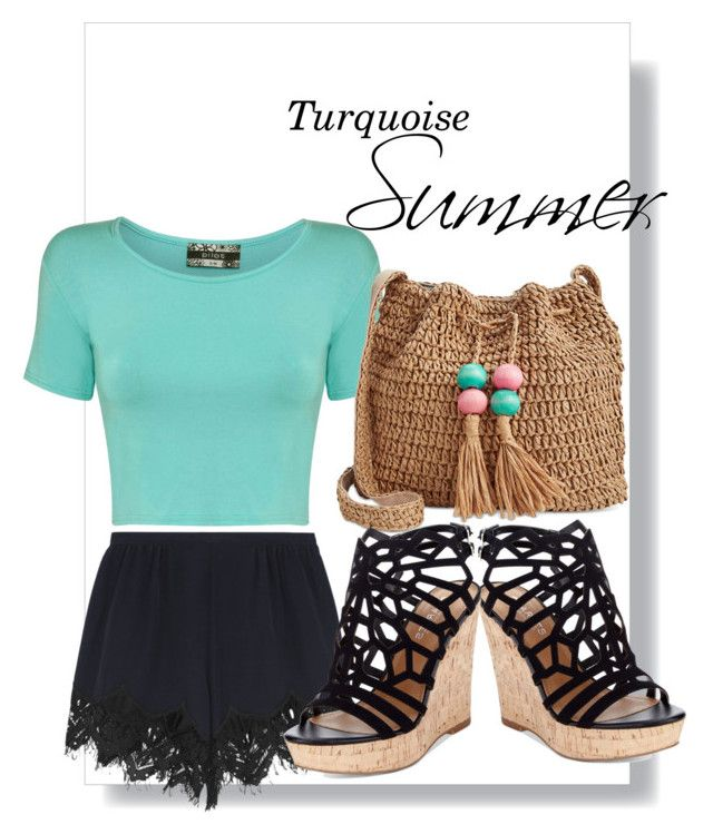 """""""Turquoise Summer"""" by emcarstairsofla ❤ liked on Polyvore featuring Pilot, Chloé, INC International Concepts, Charles by Charles David, Summer, turquoise and emmacarstairsoutfits"""