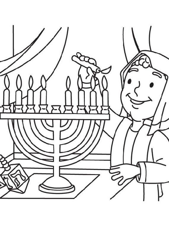 Hanukkah Coloring Pages Menorahs Family Holiday Net Guide To Family Holidays On The Internet Coloring Pages Jewish Celebrations Hanukkah