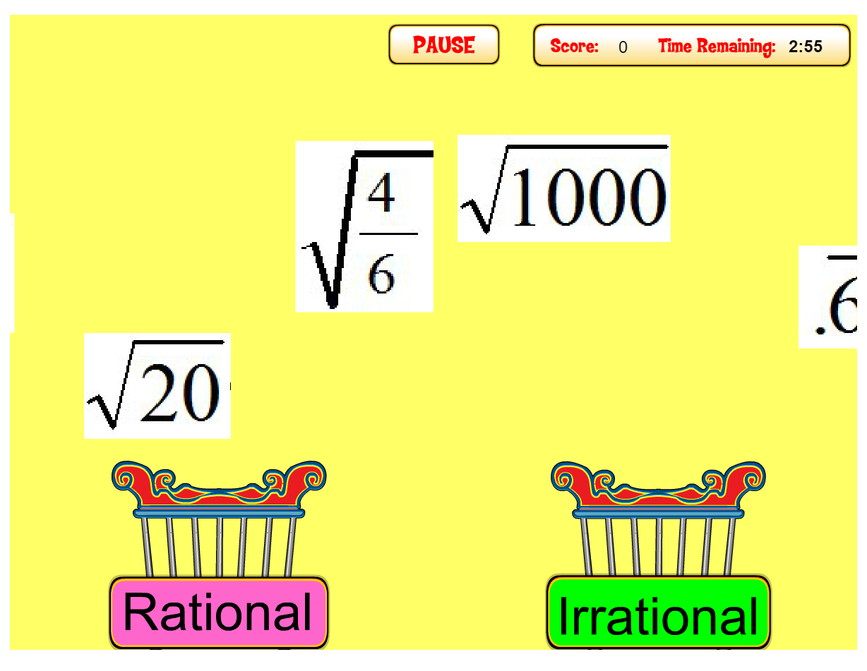 9 Rational And Irrational Numbers Activities In