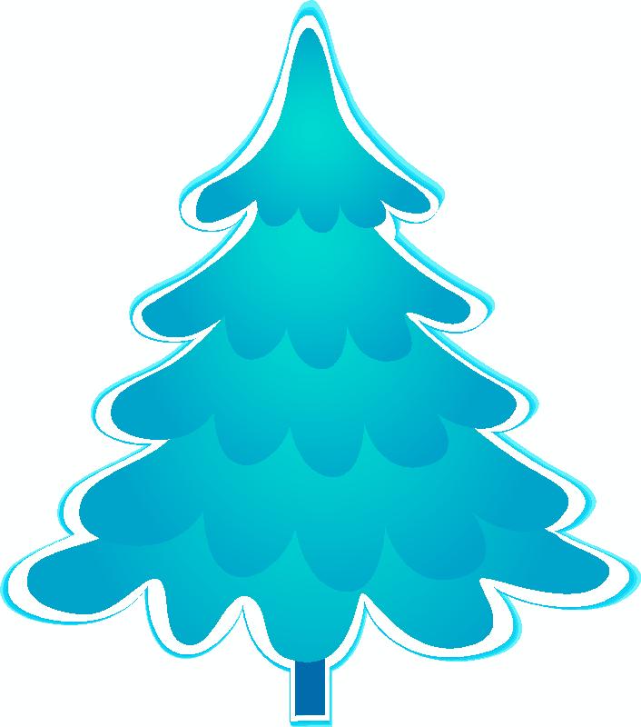 Arboles De Navidad En Color Azul Blue Christmas Tree Christmas Clipart Blue Christmas