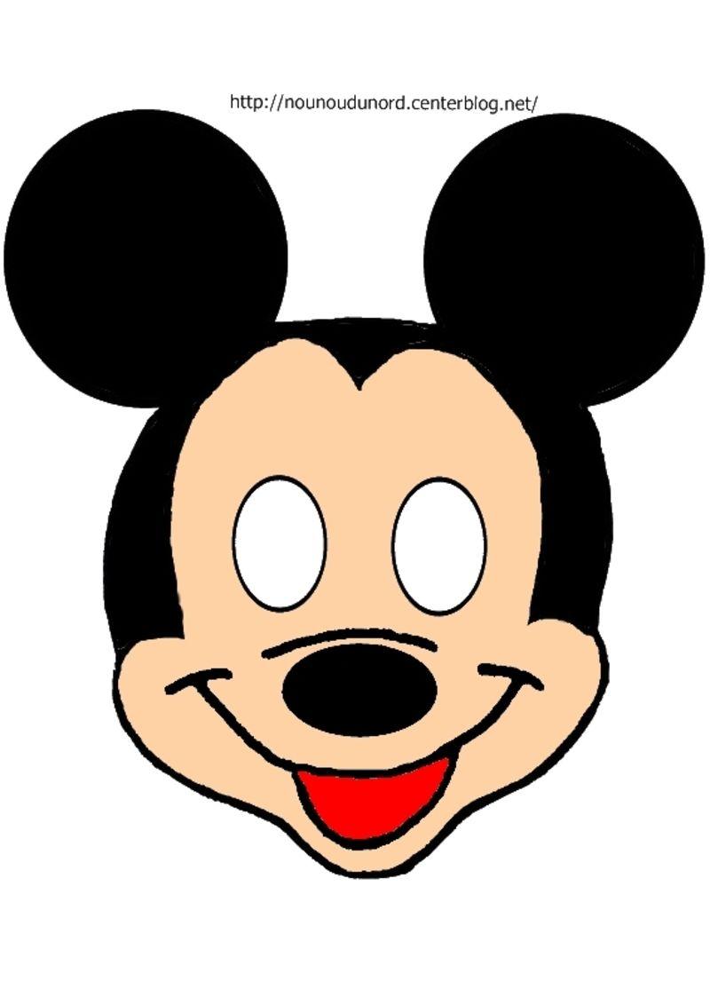 Masque mickey à imprimer  Disney knutselen, Mickey mouse, Mickey