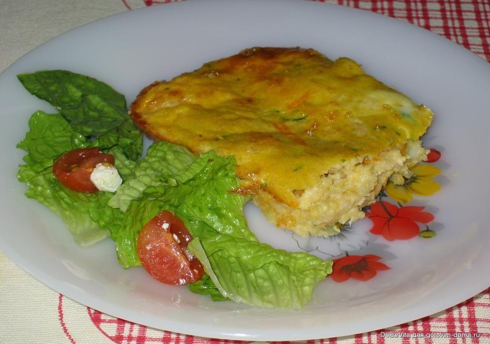 пшенная запеканка с овощами и сыром