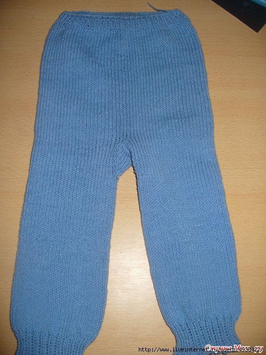 мастер-класс, вяжем малышам, тёплые штанишки, Народный Учебник по вязанию, вязание на спицах, вяжем штанишки малышу, без швов