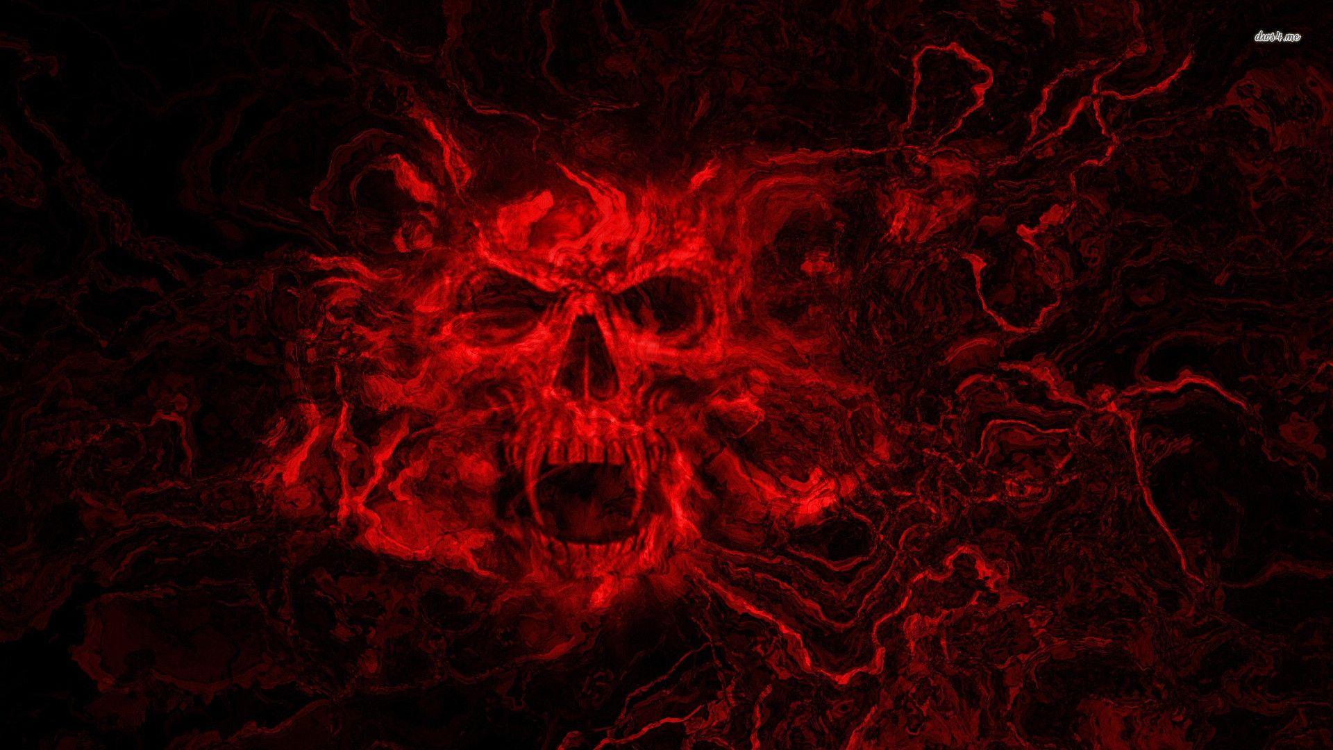 blue fantasy alien women Red skull wallpaper Skulls