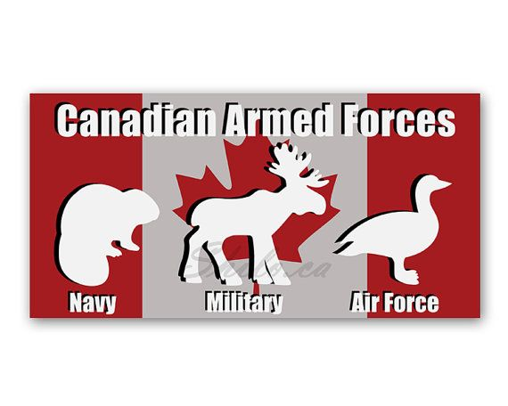 SMALL Funny Canadian Sticker Bumper Sticker Armed Forces Canadian - Vinyl decal stickers canada