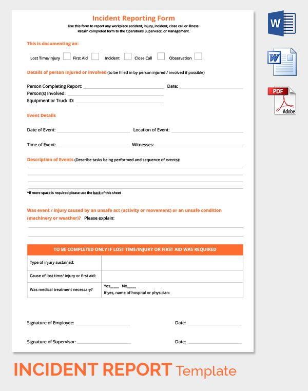 Pin by Diane on First Aid Pinterest - incident report format