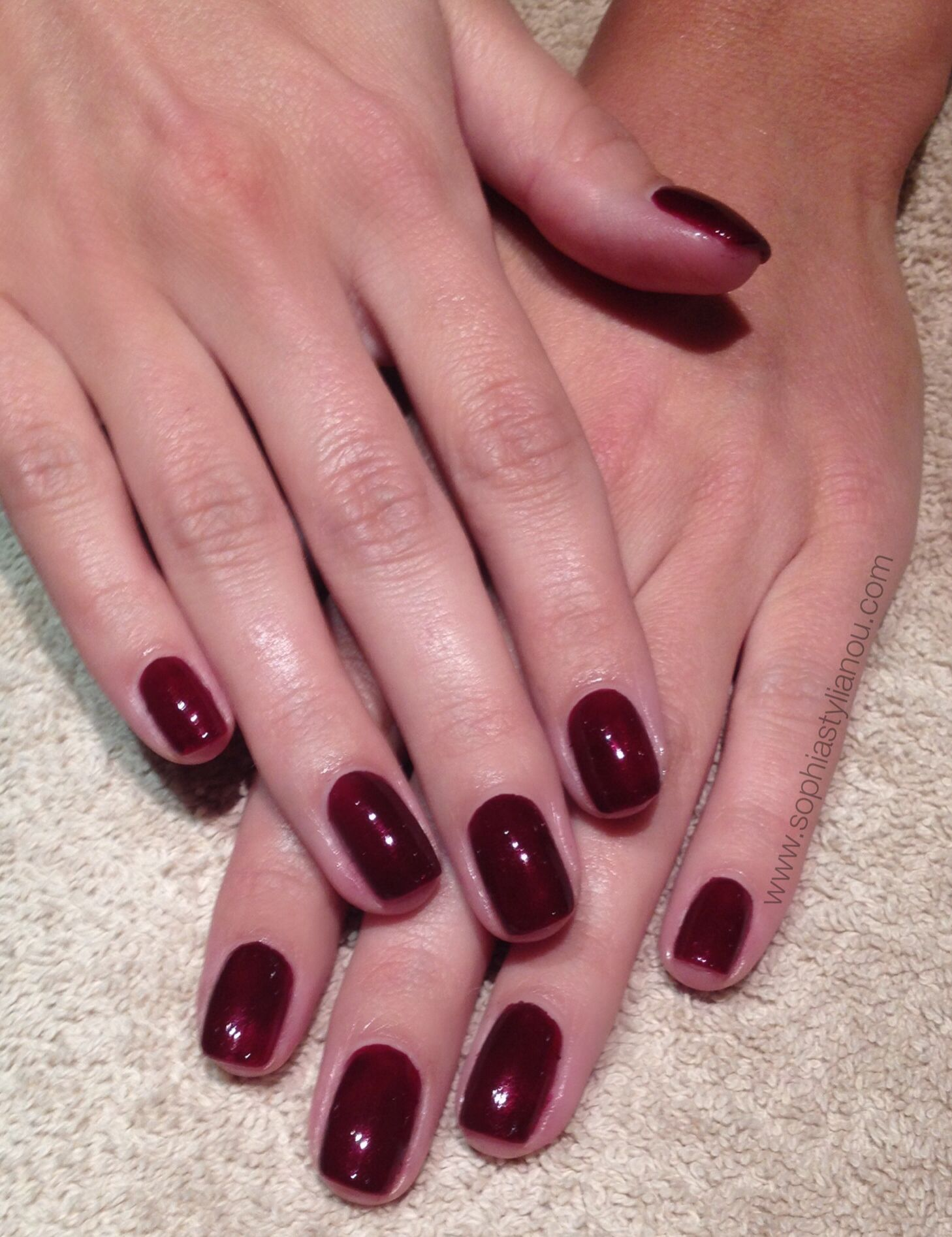 Gorgeous dark red nails for Mollie King from The Saturdays | www ...