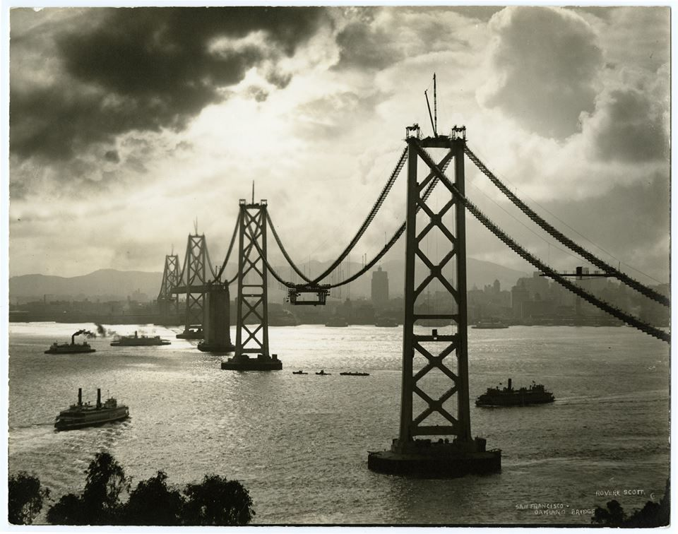 The Western Span Of The San Francisco Oakland Bay Bridge Ca 1935 Photograph By Rovere Scott California His Bay Bridge Bay Area Bridges Places In California