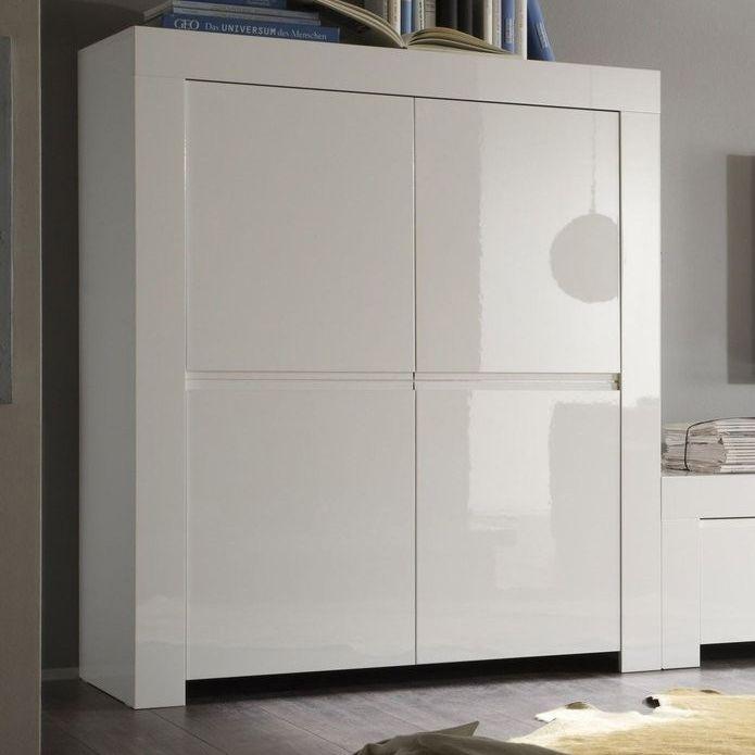 buffet haut blanc laqu design tory buffet haut moderne. Black Bedroom Furniture Sets. Home Design Ideas
