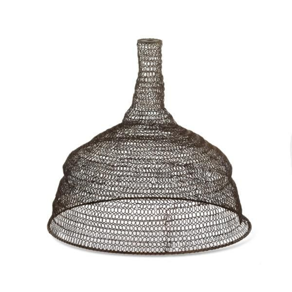 details about metal wire mesh pendant lamp light shade conical vintage industrial loft style