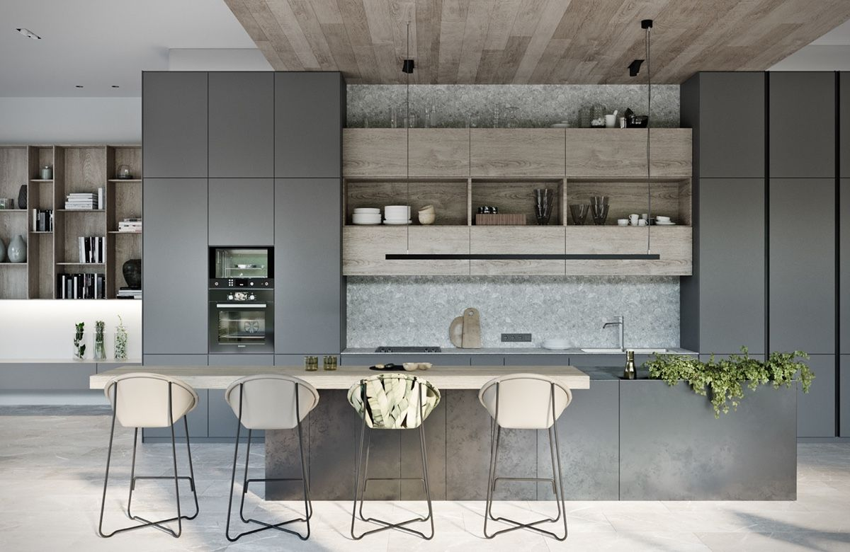 modern residence with simple details outside of moscow also interior rh pinterest