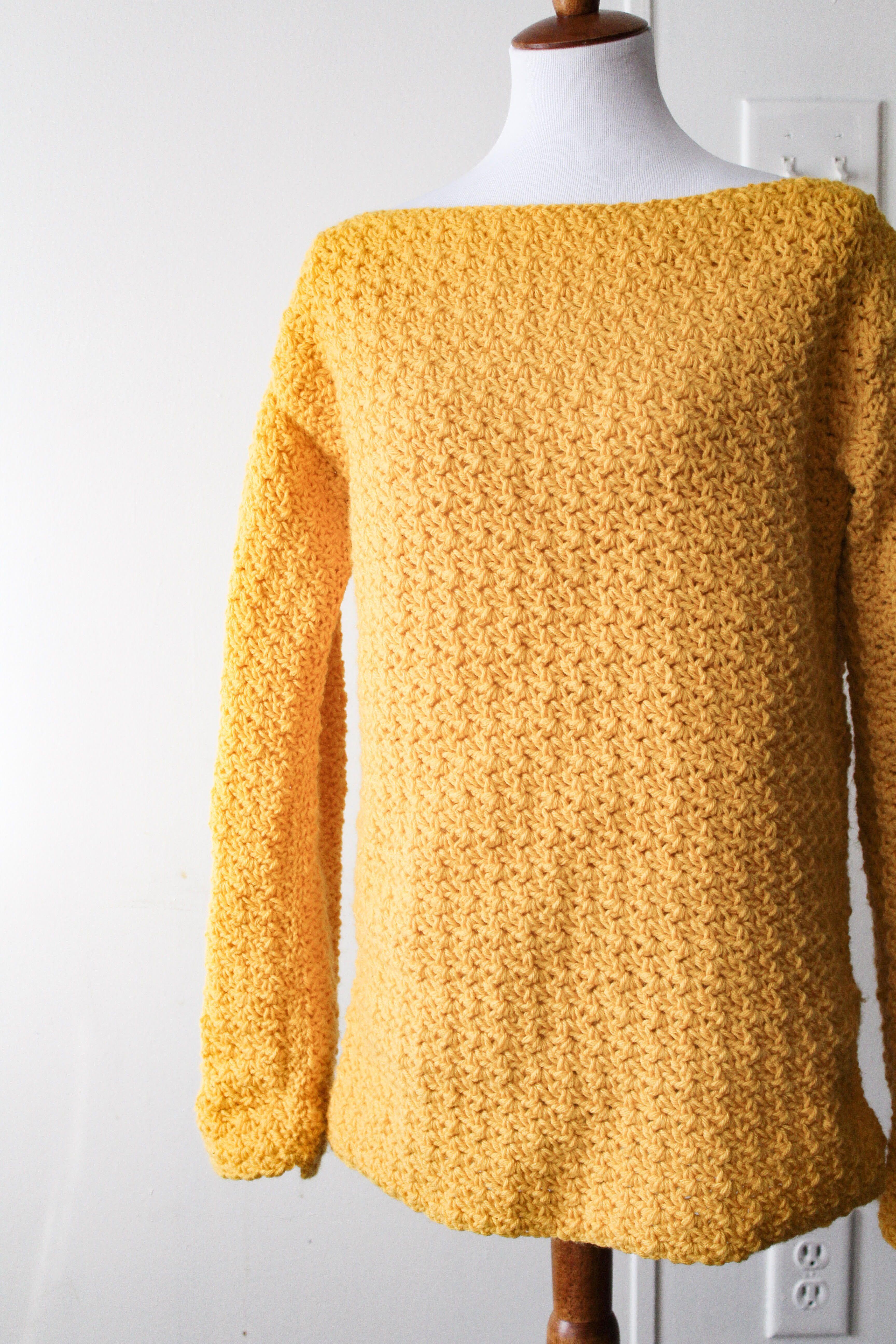 Try The Easiest Crochet Sweater Youll Ever Make Crochet