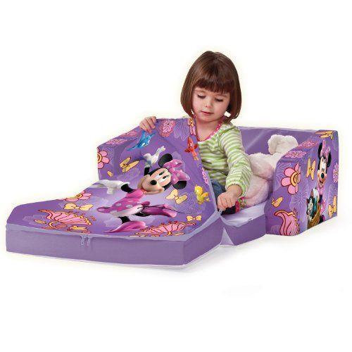Marshmallow Fun Furniture Flip Open Sofa With Slumber   Disneyu0027s Minnie  Mouse   Click Image Twice
