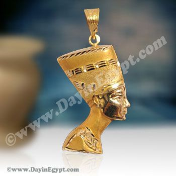 Egyptian royal 18k gold nefertiti pendant we serve an ancient egyptian royal 18k gold nefertiti pendant we serve an ancient masterpiece of 18 k bright mozeypictures Images