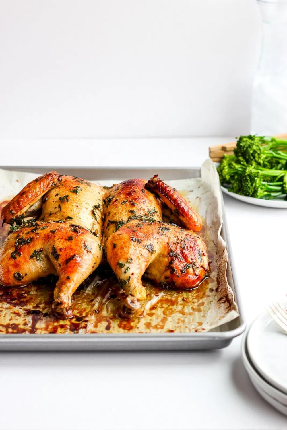 Sunday Dinner Butterflied Chicken Recipe Recipe Butterflied Chicken Best Whole Chicken Recipe Chicken Recipes