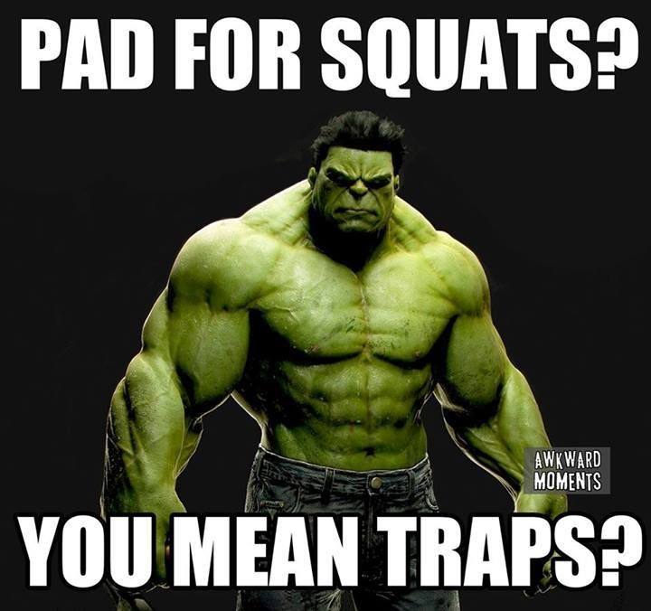 Pad For Squats You Mean Traps Gym Rat Motivation Fitness