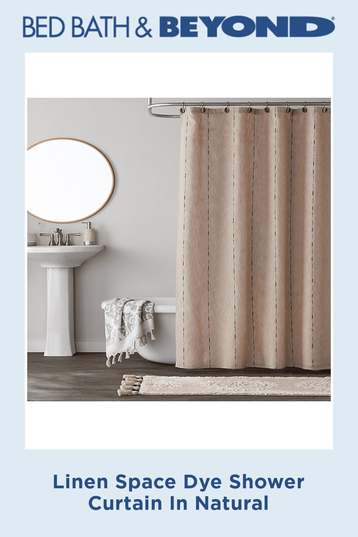 Linen Space Dye Shower Curtain In Natural Neutralshowercurtains