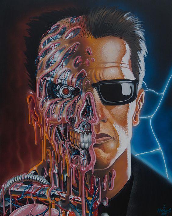 Terminator Arnoldschwarzenegger Con Imagenes Dibujos Detallados