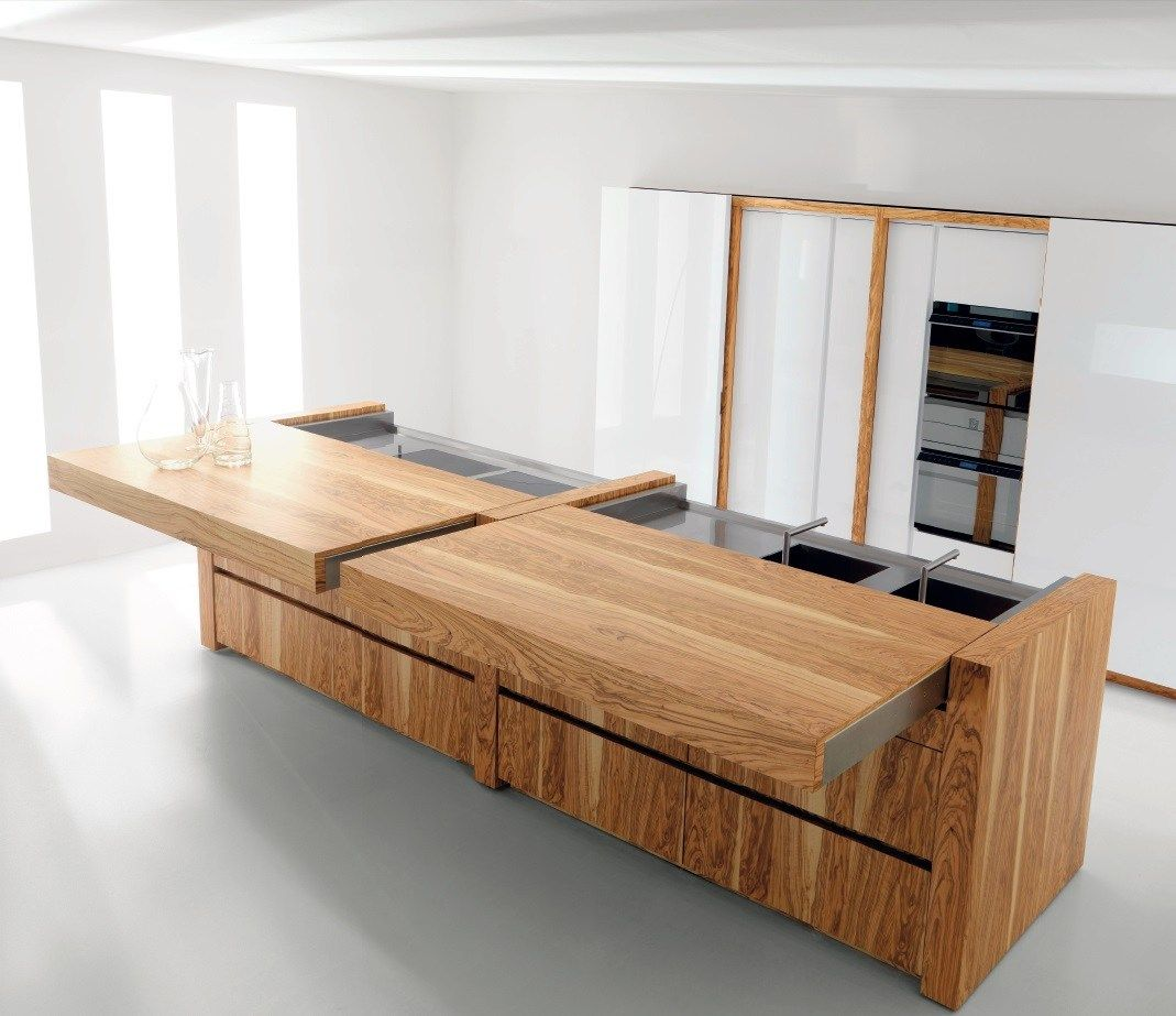 CUCINA IN ULIVO CON ISOLA ESSENTIAL WOOD COLLEZIONE ESSENTIAL BY ...