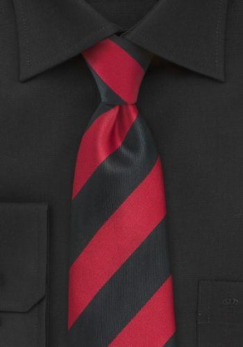 Krawatte Streifenmuster breit kirschrot tiefschwarz